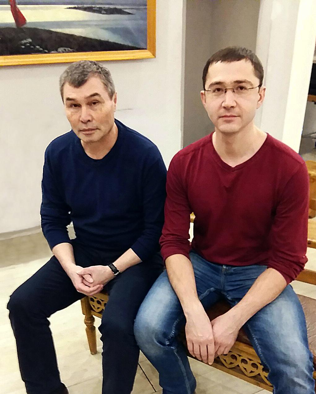 На встрече с Владимиром Серкиным